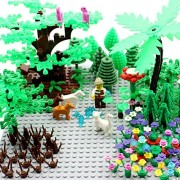 Garden Pack Block Parts Fit for LEGO Plant Leaves Scenery Accessories Plant Set Building Toy Animals LEGO Trees Plants Flowers by HongXiangYuan