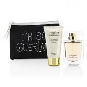 L'Instant De Guerlain Travel Coffret: Eau De Parfum Spray 50ml/1.7oz + Body Lotion 75ml/2.5oz + Bag 3pcs L'Instant De Guerlain Комплект за Пътуване: Парфțм Спрей 50мл + Лосион за Тяло 75мл + Чанта