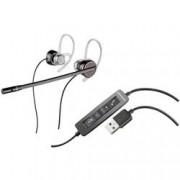Plantronics Telefonní headset s USB na kabel, mono, stereo Plantronics Blackwire C435-M do uší černá, stříbrná