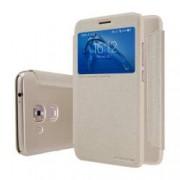 Husa flip s-view Nillkin Sparkle pentru Huawei G9 Plus auriu