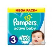 Pampers Active Baby pelenke Megabox Plus, 3 veličina, 152 kom