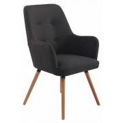 Timwood Experience Poltrona lounge AARHUS in tessuto, grigio scuro CLP, grigio scuro, altezza seduta