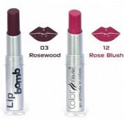 Color Fever Lip Bomb Creme Lipstick -Rosewood / Rose Blush