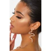 PrettyLittleThing Boucles d'oreilles serpent dorées, Doré - One Size