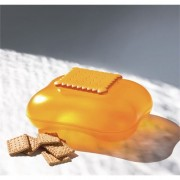 """Biscottiera in resina """"Mary Biscuit"""" col arancio"""