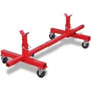 vidaXL Pojízdný stojan pod nápravu červený