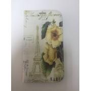 Страничен калъф тефтер с цветя за Samsung i9082/i9060 Grand/Neo