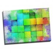 Tablou decor modern - Perete de cuburi 3D