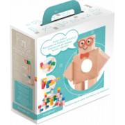 Blocuri magnetice educative Kooglo - 100 piese Multicolore
