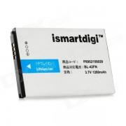 ismartdigi bateria de litio reemplazo 3.7V 1280mah para LG optimus me P350 - blanco