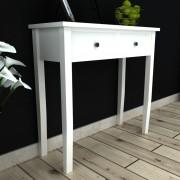 vidaXL fehér fésülködőasztal kettő fiókkal