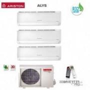 Ariston CLIMATIZZATORE CONDIZIONATORE TRIAL 9+9+12 INVERTER ARISTON ALYS PLUS R32 9000+9000+12000 BTU CON TRIAL 80 XD0C-O GAS R32