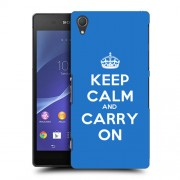 Husa SONY Xperia Z2 Silicon Gel Tpu Model Keep Calm Carry On