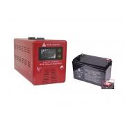 Zestaw zasilania awaryjnego Sinus-500PRO 500W + AKU 100Ah 12V VRLA AGM