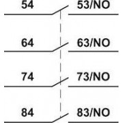 Homlokoldali segédérintkező TR1D/F és TR1E kontaktorokhoz - 230V, 50Hz, 2A, 4xNC TR6DN40 - Tracon