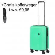 Connect Handbagagekoffer met USB Groen 28L 53x34x20cm