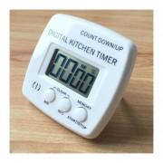 Cocina Temporizador Electrónico Digital Alarma Fuerte Respaldo Magnético Con El Titular Para Cocinar, Hornear Juegos Deportivos Office (blanco)
