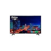 Smart TV LED 49 Philco PTV49f68DSWN Ultra HD 4k com Conversor Digital 3 HDMI 1 USB Wi-Fi 60Hz - Preta