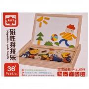 Дървена дъска, кутия с магнитен пъзел - Код W3201