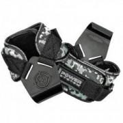 Pereche chingi cu carlig metalic pentru sala de fitness POWER HOOKS PS-3370 marime L gri camuflaj