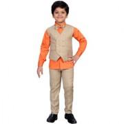 AJ Dezines Kids Party Wear Orange Suit Set for Boys