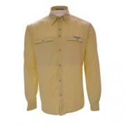 Camisa Trek Fish Masculina Amarela G - Guepardo