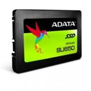 "SSD 120GB A-Data SU650, SATA 6Gb/s, 2.5""(6.35 cm), скорост на четене 520MB/s, скорост на запис 450MB/s"