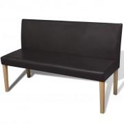Луксозна пейка за дома или офиса, цвят: тъмнокафяв