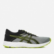 Asics Men's Running FuzeX Lyte 2 Trainers - Mid Grey/Black/Energy Green - UK 11 - Grey