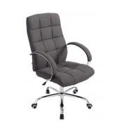 CLP Poltrona da ufficio Mikos in tessuto, grigio scuro , grigio scuro, altezza seduta