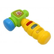 Clown Hammer Light Up Toy Game With Sound Effects Play Time Hammer With Red Blue And Yellow Lights
