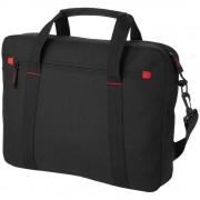 Servieta Laptop, Everestus, 15.4 inch, 600D poliester, negru, saculet de calatorie si eticheta bagaj incluse
