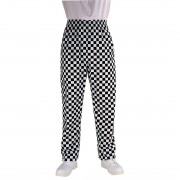 Chef Works Essential Baggy Pants Big Black Check XL Size: XL