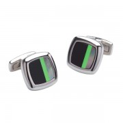 Duncan Walton Sculptor Cufflinks Black/Green C2621B
