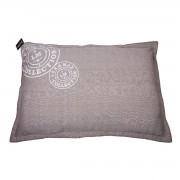 Lex & Max Hondenkussen Visgraad Taupe - 100 x 70cm - Kussenhoes