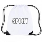 Shoppartners Wit sport rugtasje/ gymtasje kinderen