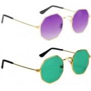 SRPM Round Sunglasses(Violet, Green)