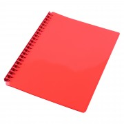 CUMBERLAND DISPLAY BOOK A4 REFILLABLE GLOSS RED 20P(EACH)