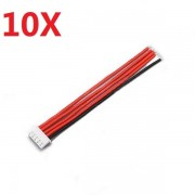 10PCS 2.54XH 22AWG 13CM 4S 5Pin Balance Cable Silicone Wire for Lipo Batteries
