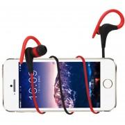 EH Auricular Inalambrico Bluetooth HD Deportes Auriculares Estereo-Rojo