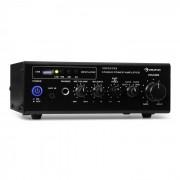 Auna AMP3 USB, mini amplificator stereo, intrare de microfon, ieșire pentru căști, negru (AV6-Amp 3 USB)