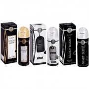 Al-Nuaim Perfume Spray Pack Of 3 Fragrances (Coco Nair + Signature + Silver Scent) (Alchohol Free)