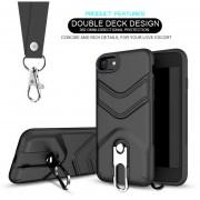 Funda Case Iphone 8 Plus / 7 Plus Uso Rudo Heavy Duty- Negro