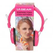 Merkloos Koptelefoon stereo neon roze