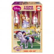 Educa Disney Szófia hercegnő puzzle, 2x50 darabos