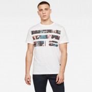 G-star RAW Hommes T-shirt Originals Photo GR Blanc