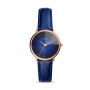 Fossil Women Prismatic Galaxy Three-Hand Blue Leather Watch - One size