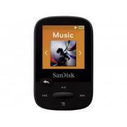SanDisk Sansa Clip Sport MP3-speler 8 GB Zwart Bevestigingsclip, FM-radio