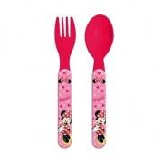 Disney Minnie Mouse kinderbestek vork met lepel 14 cm