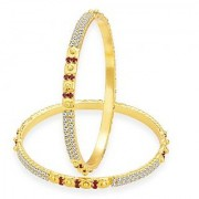Sukkhi Marvellous Gold Plated AD Bangle For Women
